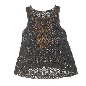 2/$40 Ecote UO Queens crochet lace studs tank top